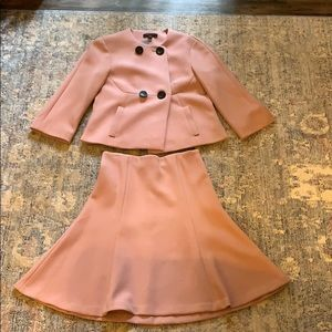 NWT Rose Pink Ann Taylor Skirt Suit